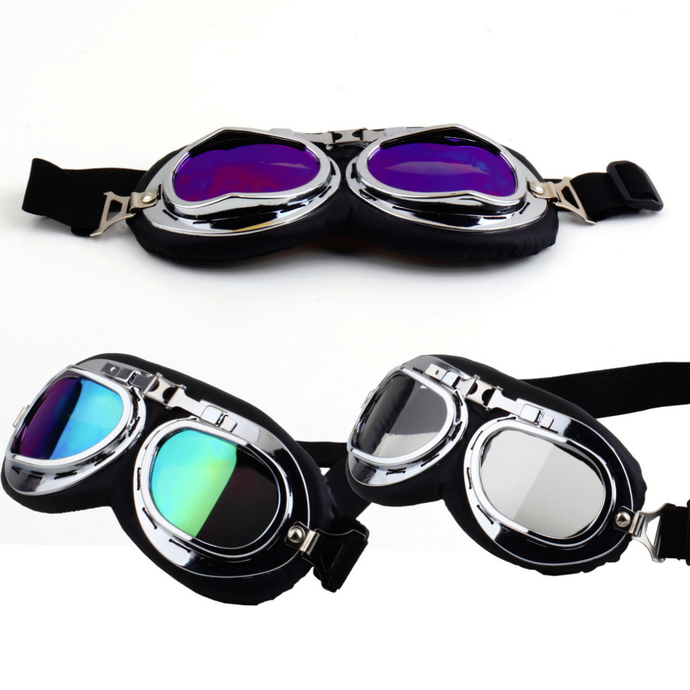 Anti-UV Motorcycle Scooter Pilot Goggles Helmet glasses Motocros