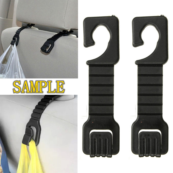 1 Pair Car Auto Black Headrest Shopping Luggage Bag Hanger Holde