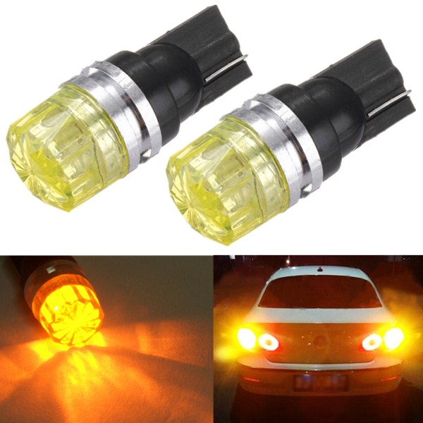 1.5W Car Wedge Amber Yellow LED T10 Side Tail Turn Light COB Bul