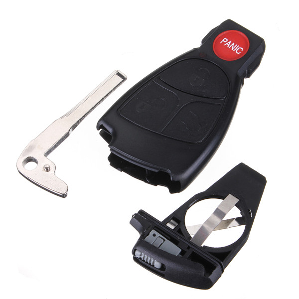Remote Keyless Smart Key Fob Case Shell With Battery Holder For