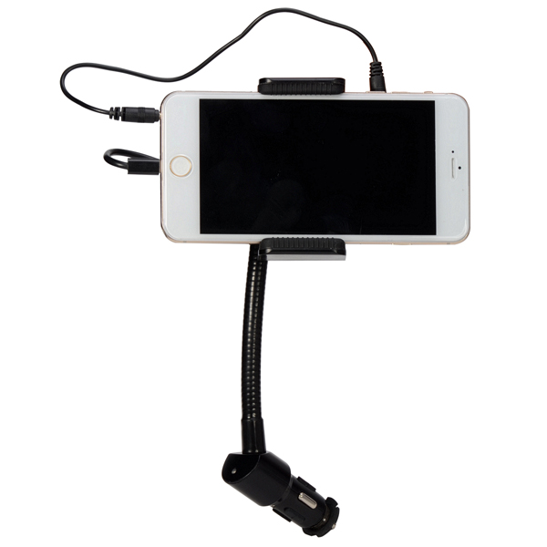 Car Hands-free Phone Holder Stand with FM Hi-Fi for iPhone 6/6Pl