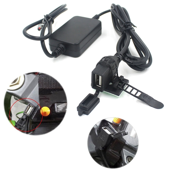 12V USB Power Charger Converter for Motorcycle Phone Android GPS