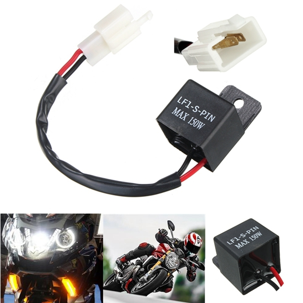 2-Pin Motorcycle Turn Signal LED Lamp Flasher Relay