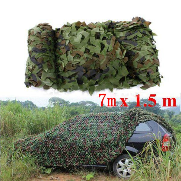 7X1.5m Woodland Camouflage Camo Net For Camping Military Photogr