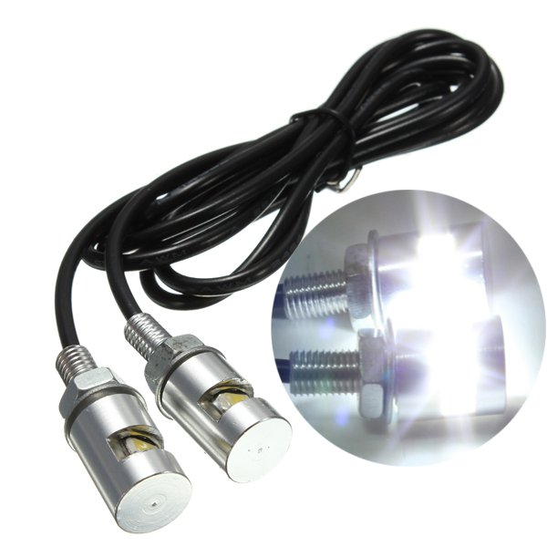 1pair 12V Motorcycle White SMD LED License Plate Light Lamp Bulb