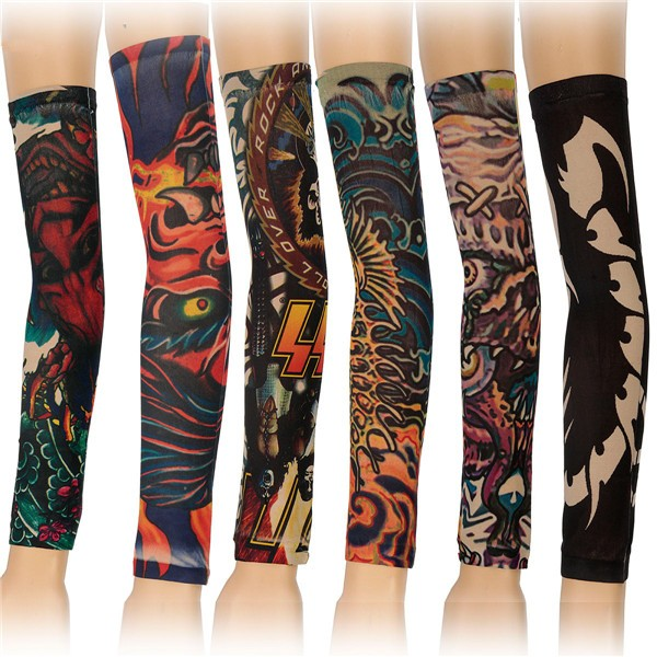 6pcs Styles Mix Temporary Tattoo Sleeves Stretchy Party Arm Stoc