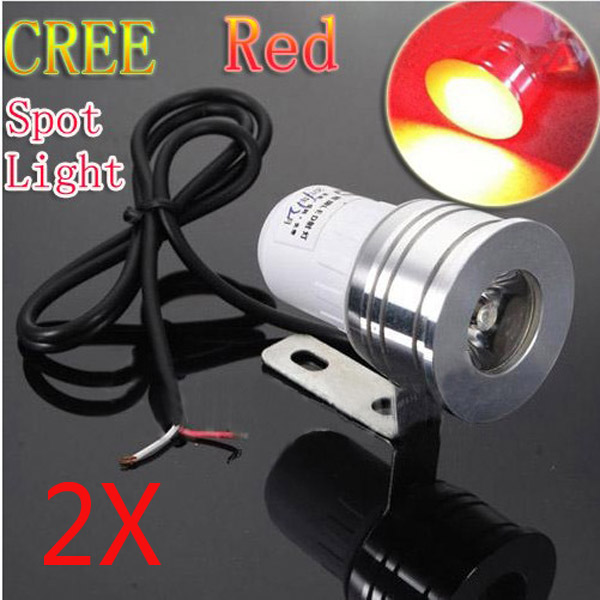 2x12V Red LED Cree Day Spot Light RED Motorcycle Car Off Road