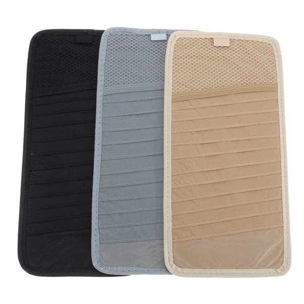 12pcs Disc Car CD DVD Visor Card Storage Case Clipper Disk Bag