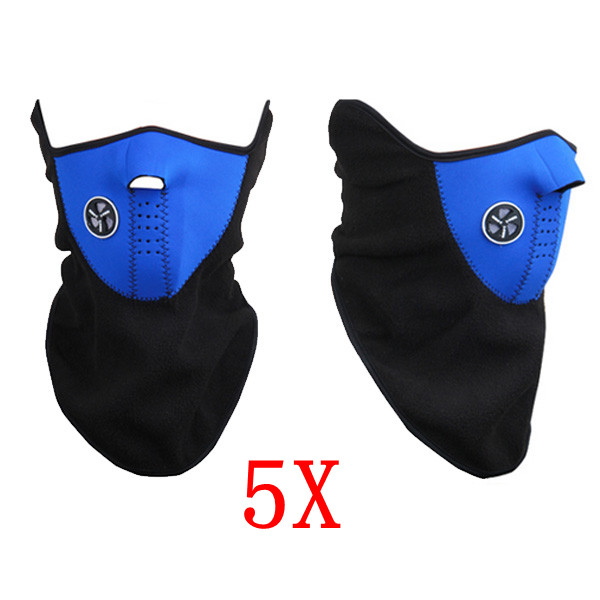 5x Universal Motorcycle Neck Ski Snowboard Warm Face Mask