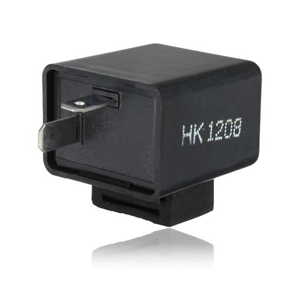 2 pin 12V  Motorcycle Bike Flasher Relay Resistor for Led Indica