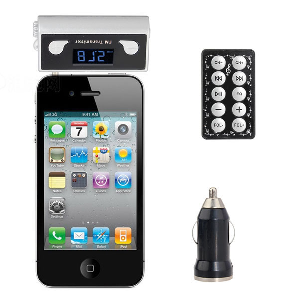 Built-in Battery 3.5 audio Car Fm Transmitter for IPhone