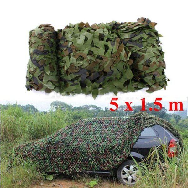 5mx1.5m Woodland Camouflage Camo Net For Camping Military Photog