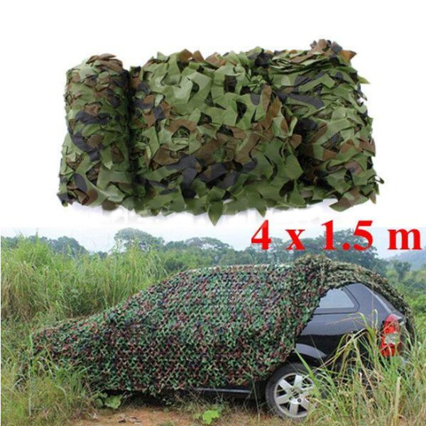 4x1.5m Woodland Camouflage Camo Net For Camping Military Photogr