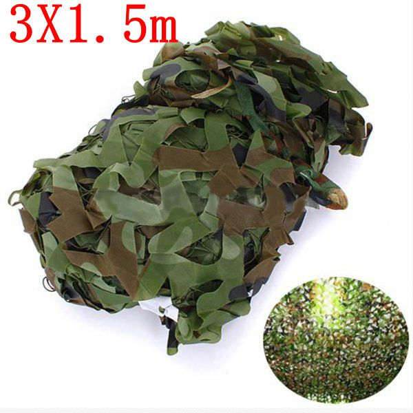 3X1.5m Woodland Camouflage Camo Net For Camping Military Photogr