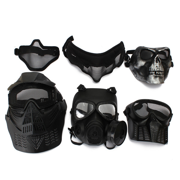 6Sytle CS Tactical Protect Safety Gear Mask for Paintball Airsoft Game