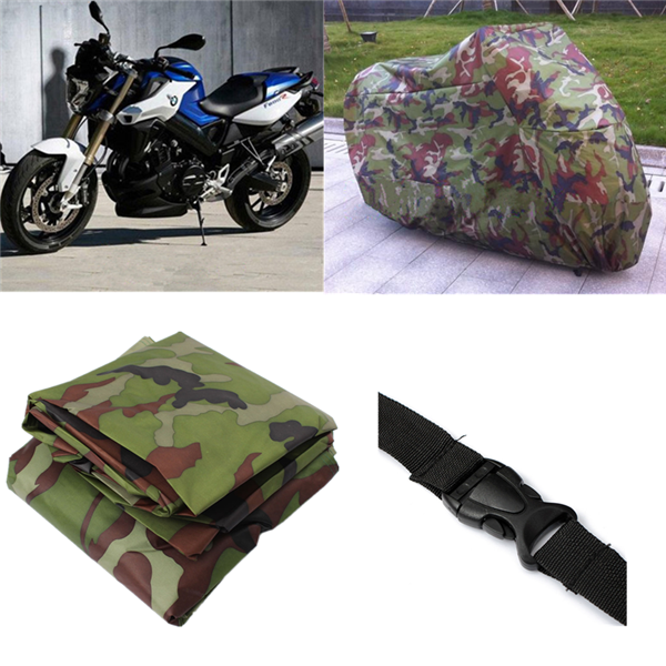 Motorcycle Bike Rain Dust Cover Outdoor UV Protector XXL Camoufl