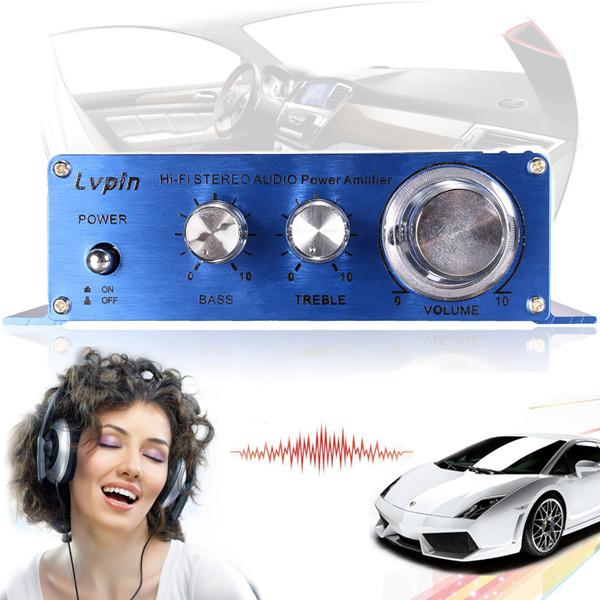 180W 2CH 12V Small Stereo High Power Amplifier For CD MP3 Car Au