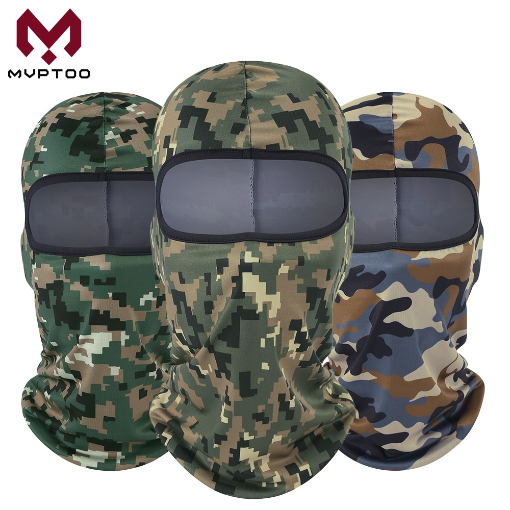 Full Face Shield Balaclava Cap Motorcycle Motorbike Moto Militar