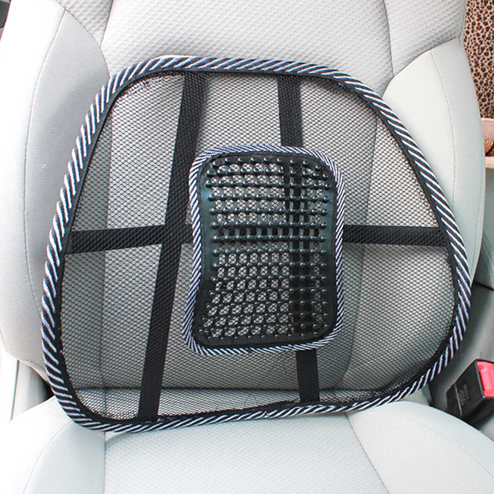 Cushion Pad Support Massage Chair Lumbar Waist Cushion Mesh Vent