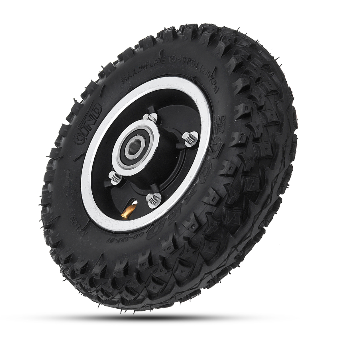 200*50mm Inflatable Longboard Rubber Off Road Wheel For Electric