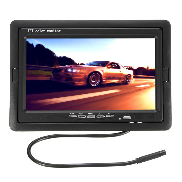 7 Inch Car Rear View TFT LCD Monitor + 170 Waterproof Reverse Ba