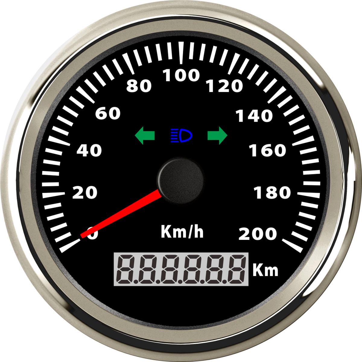 Car Pulse Mileage Speedometer With High Beam And Turn Signal Fun