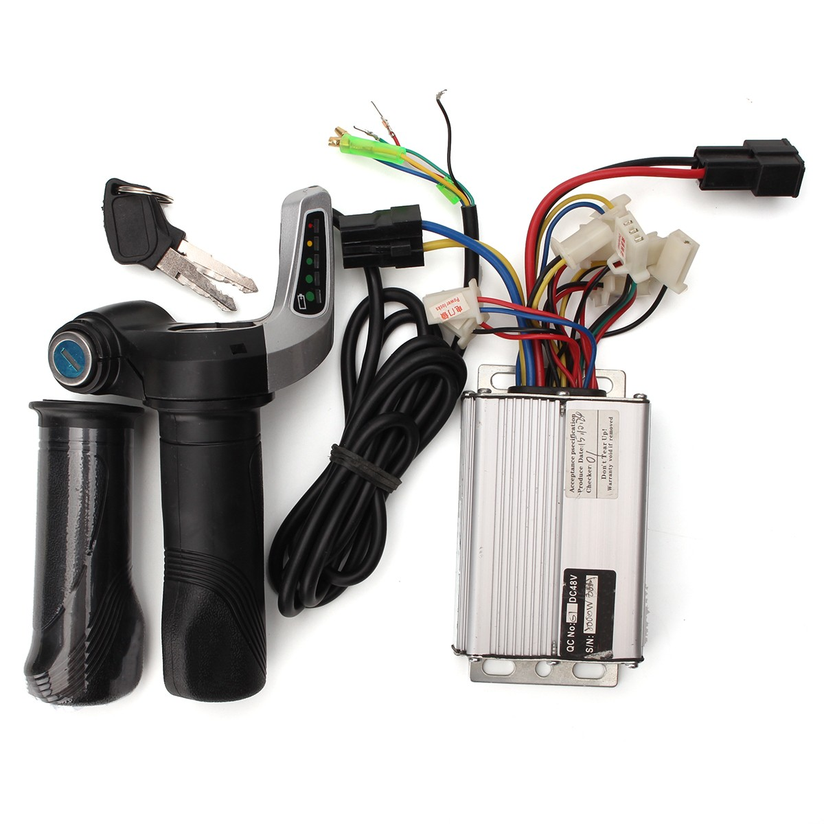 48V 1000W Electric Bike Motor Scooter Speed Controller w/Throttl