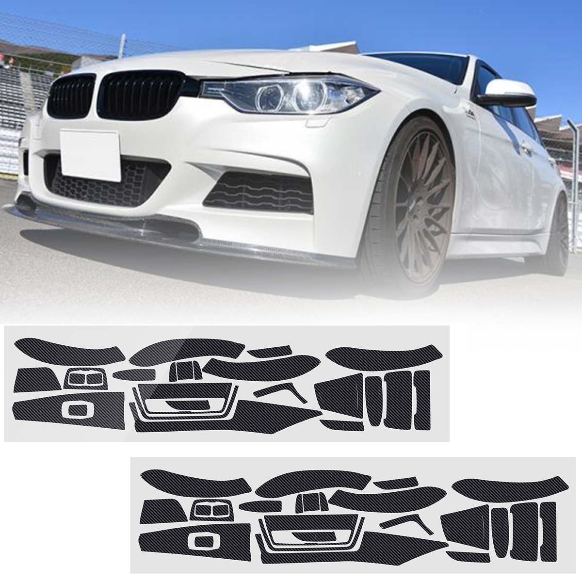 Carbon Fiber Pattern Car Interior Dashboard Sticker Wrap Decorat