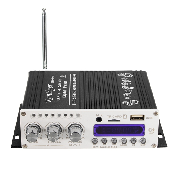 Kentiger HY-V10 Mini bluetooth Hi-Fi Stereo Amplifier Bass Boost