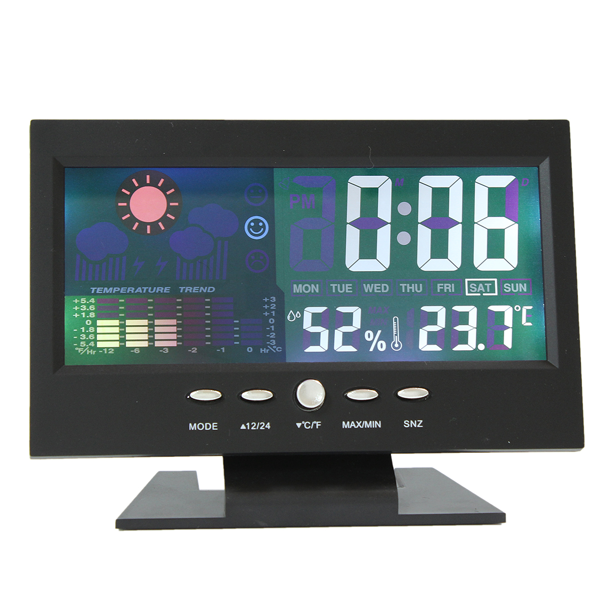 Color LCD Screen Calendar Digital Clock Car Thermometer Weather