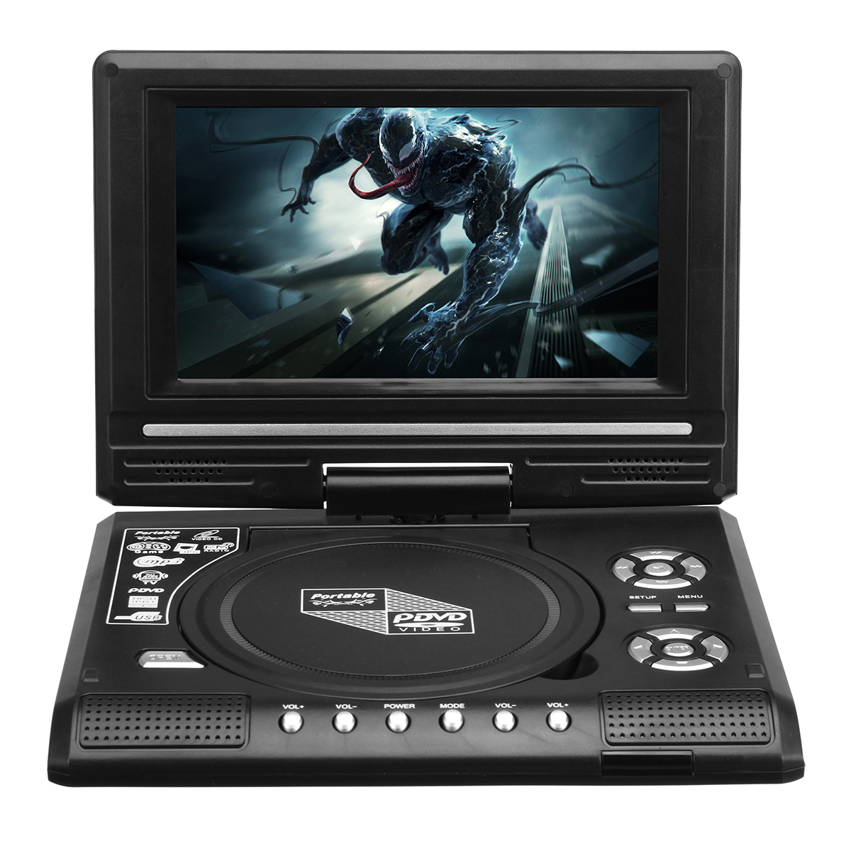 7.8 Inch Portable TV Program Game 270 Degree Rotation Car DVD Pl
