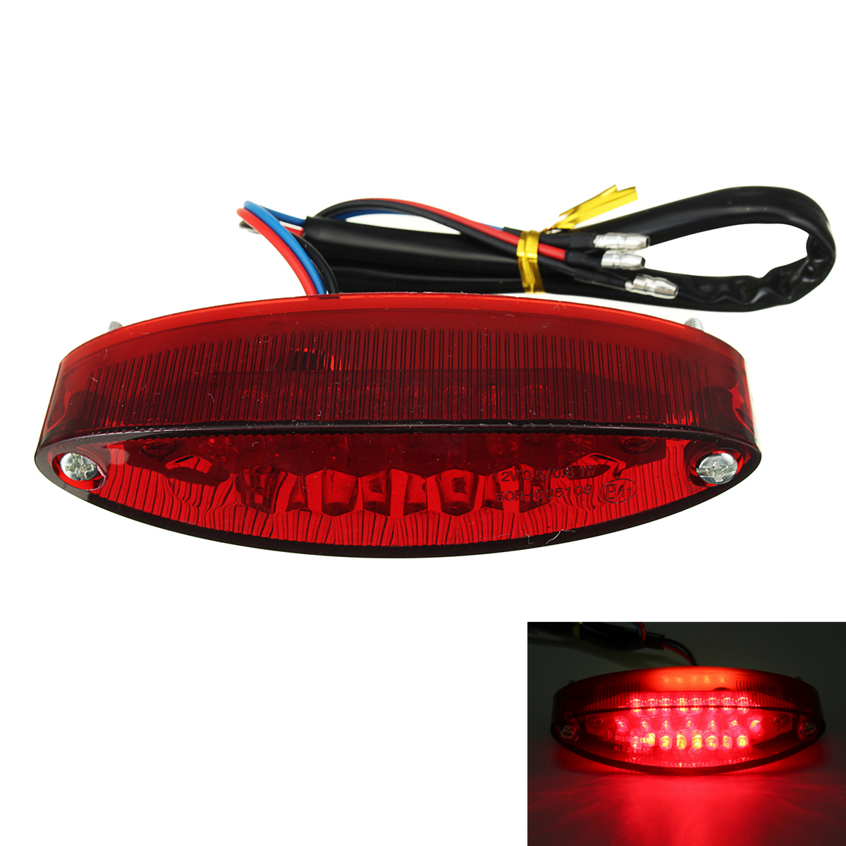 12V Motorcycle 28 LED Rear Brake Tail License Plate Light Red La