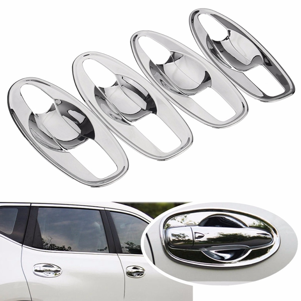 Car Door Handle Bowl Covers Trim Inserts Chrome for NISSAN ROGUE