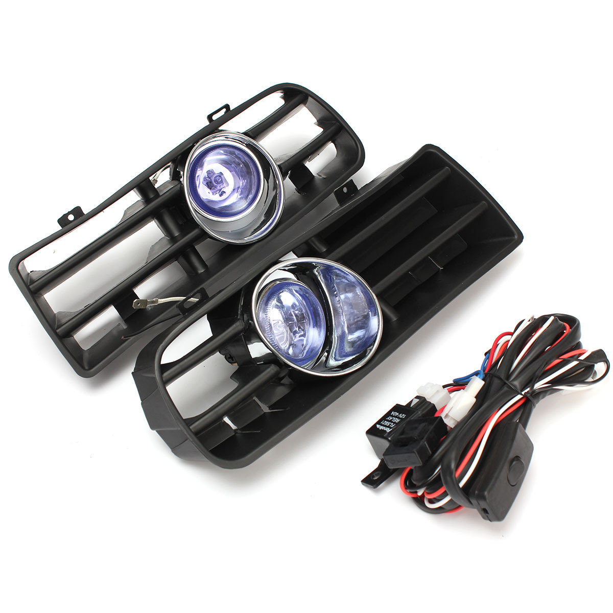 Car Front Bumper Fog Lights Lower Grill Grille Lamp with Harness