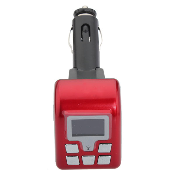 12V BT V2.0 MP3 Wireless FM Modulator BF-805 Red
