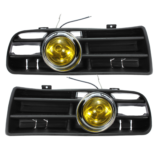 Yellow Front Fog LED Light Lamp Lower Grille for 98-04 VW Golf M