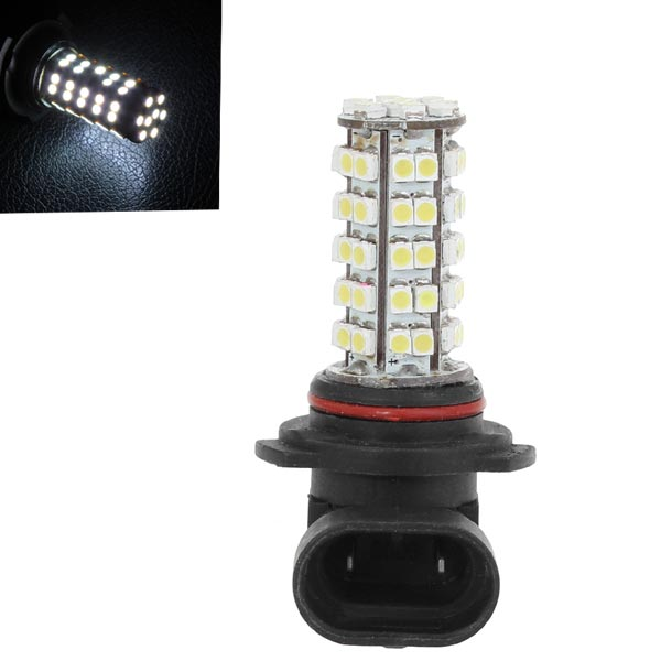 Car 9006 3528 SMD 68LED Bulb Head Fog Light Lamp White 5.5W 12V