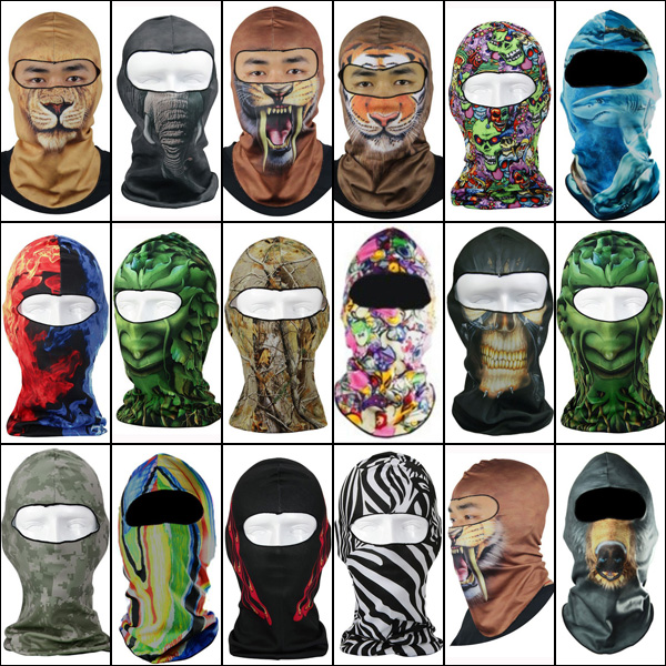 3D Motorcycle Balaclava Neck Ski Full Face Mask Cover Hat Cap Be