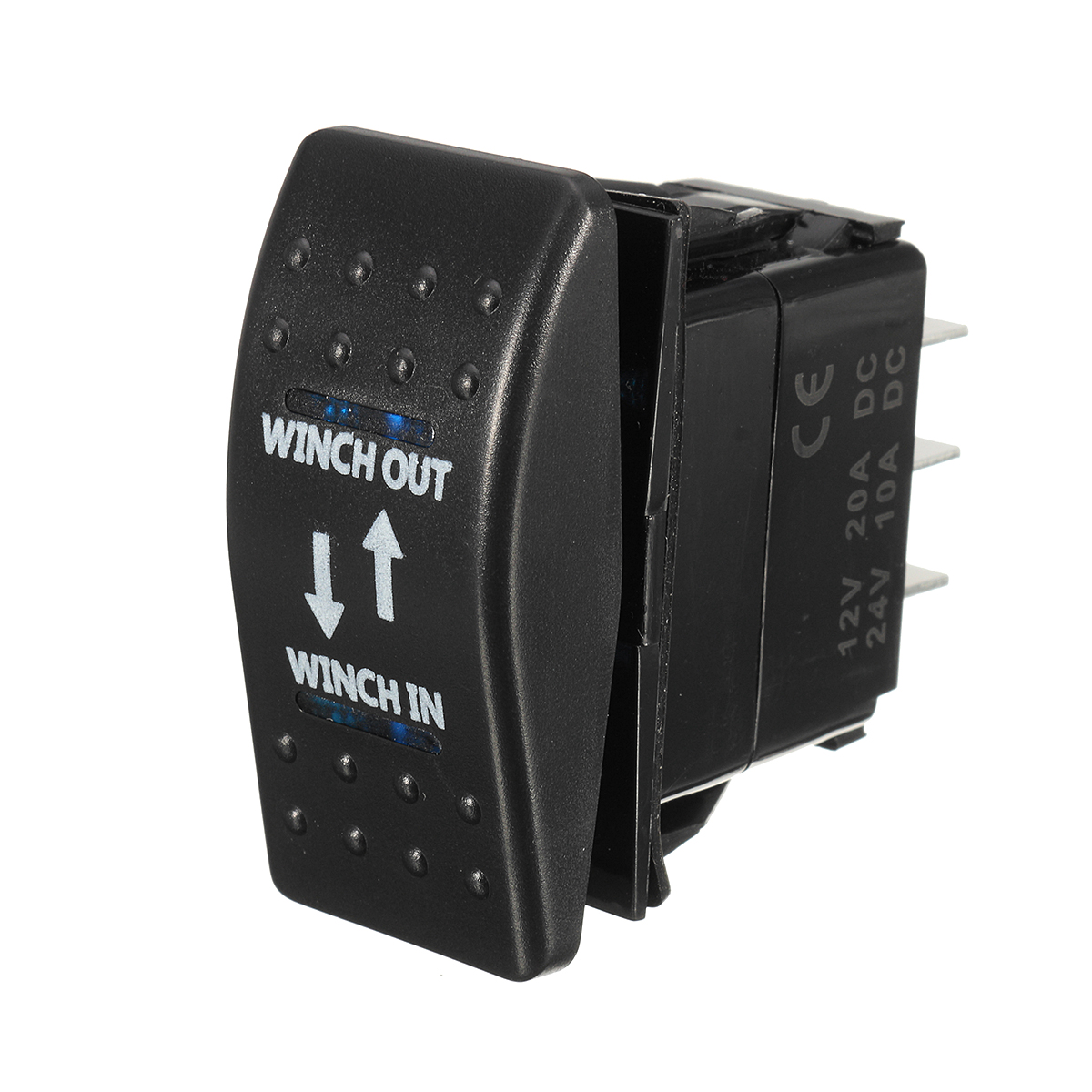 12V 20A (ON)-OFF-(ON) Rocker Switch Momentary Winch In Winch Out