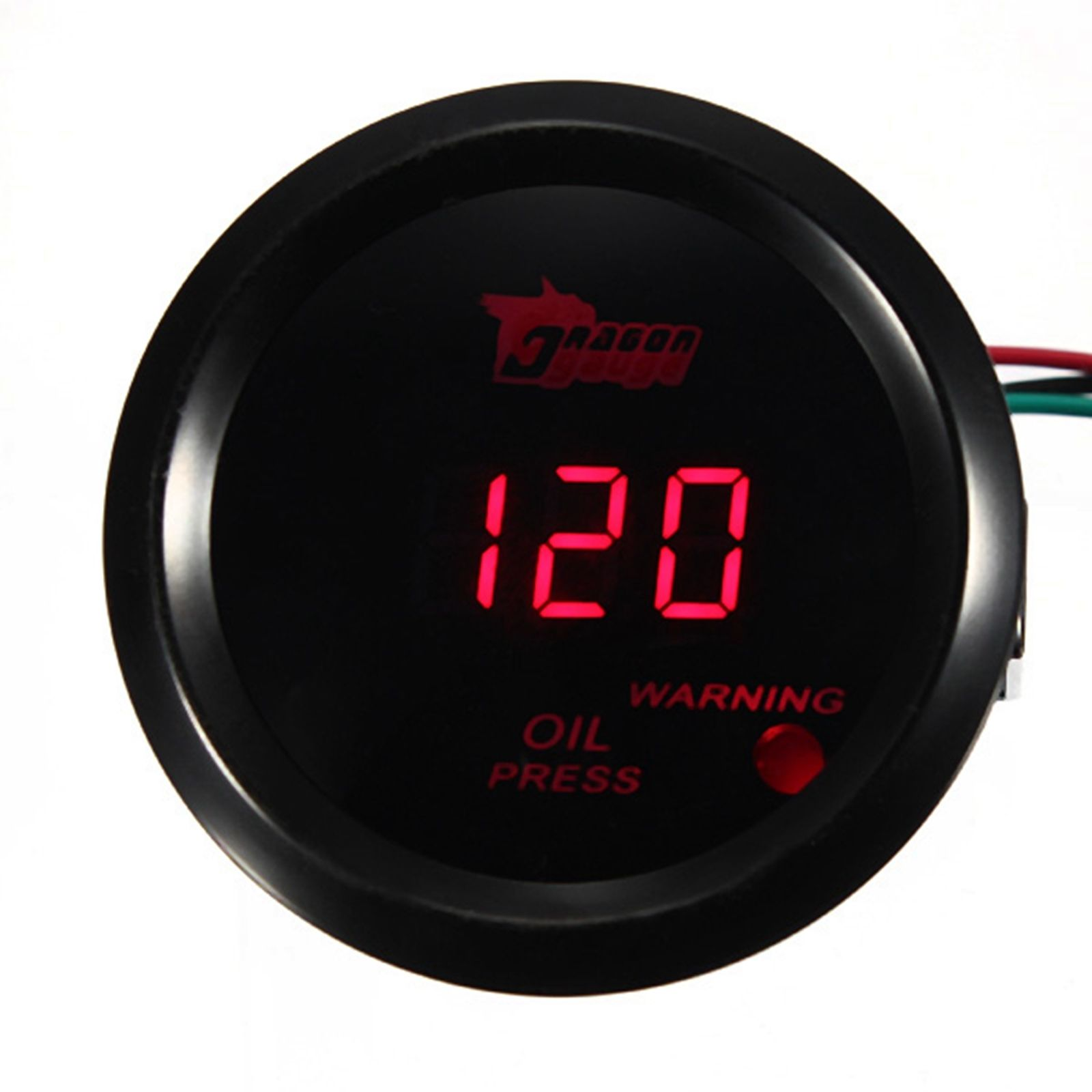 2 Inch 52mm 120 PSI Digital Red LED Oil Pressure Gauge With Sens