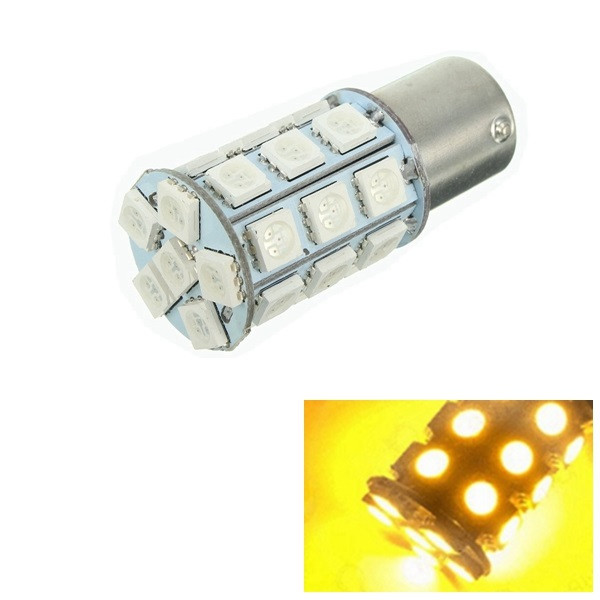 1pcs 1156 BAU15s 27SMD LED Car Turn Signal Lights Tail Lamp Reve