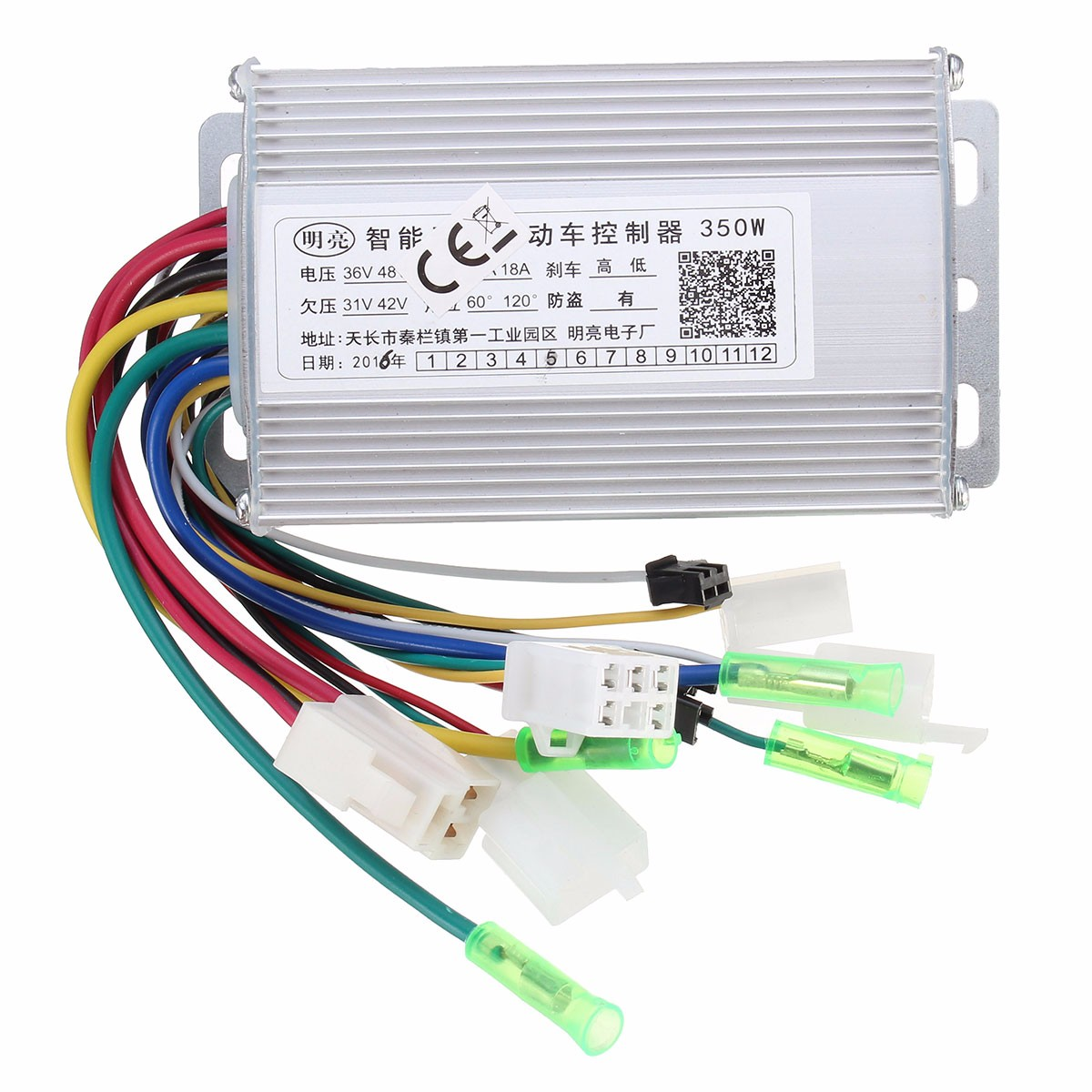 350W 36V/48V Brushless Controller For Scooter E- bike With/Witho