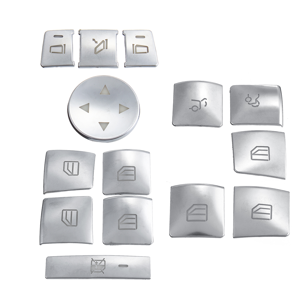 14 pcs/set Car Window Lift Button Cover for Mercedes Benz A/B/C