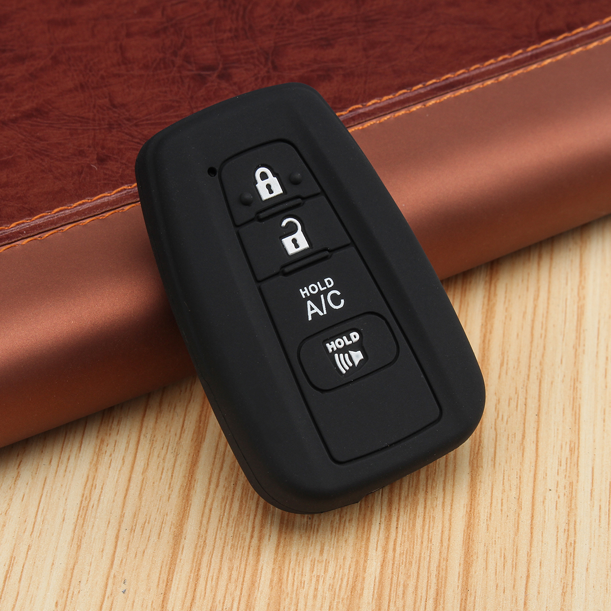 4 Buttons Silicone Car Key Remote Case/bag Cover Holder for Toyo