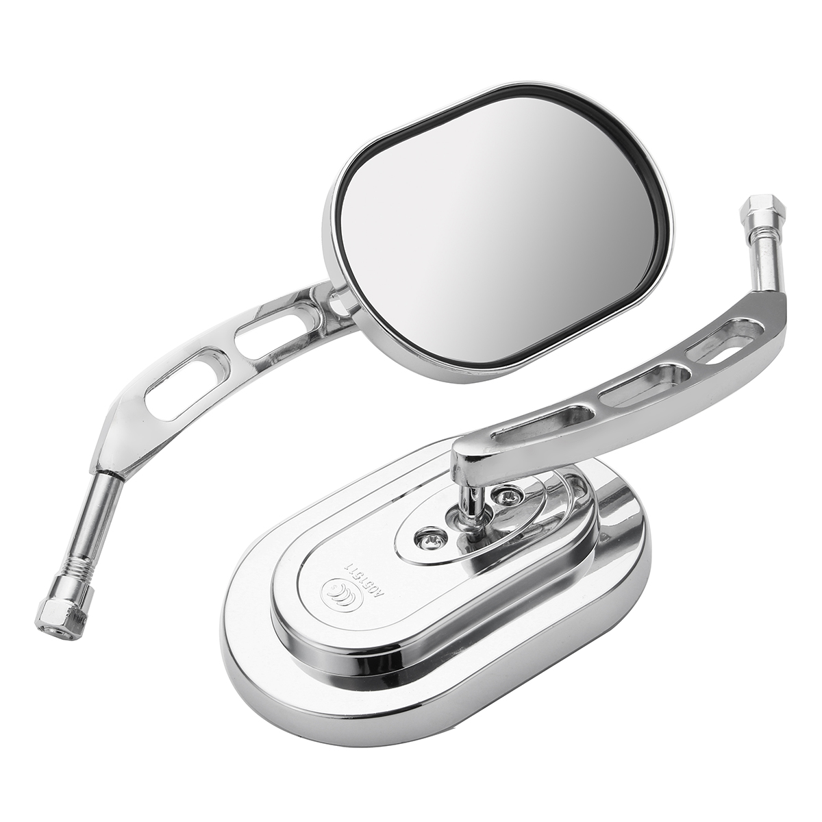 10mm Universal Chrome Motorcycle Mirrors Rear View Side Mirror F