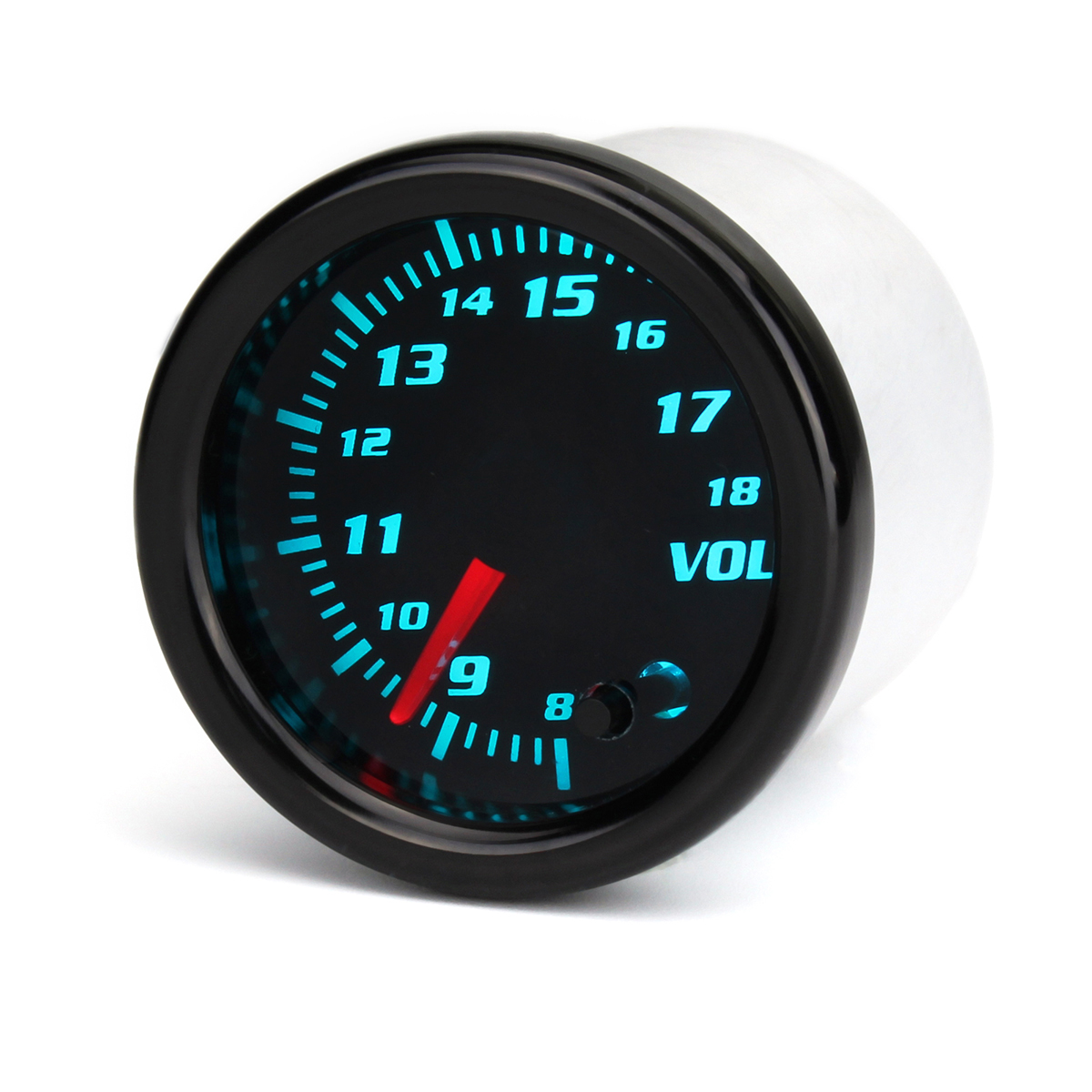 12V Universal 2 Inch 52mm Auto Voltmeter 7 Color LED Display Tin