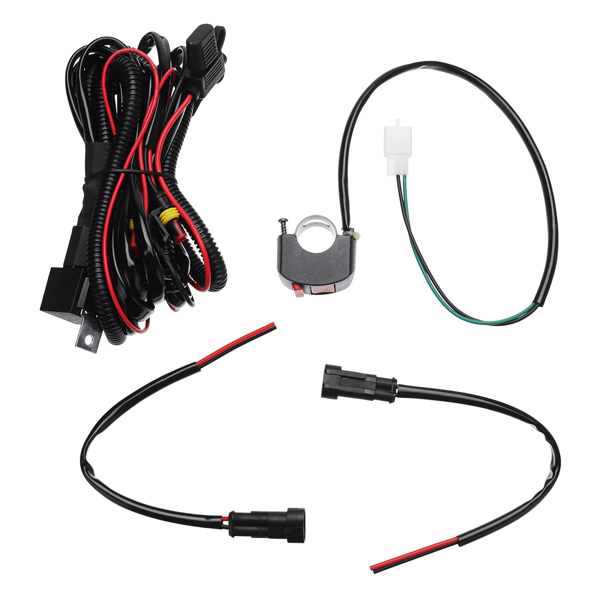 10A Relsy Switch Fog Light / Spot Wiring Loom Harness Kit For Un