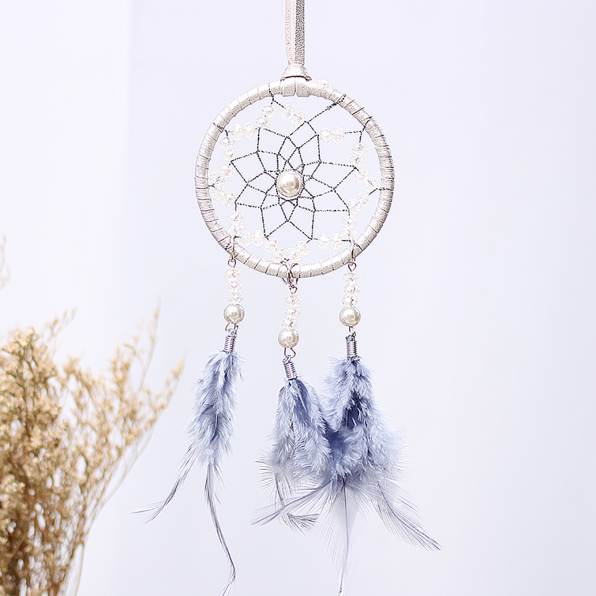 Car Ornaments Feather Dream Catcher Wind Chimes Interior Crafts
