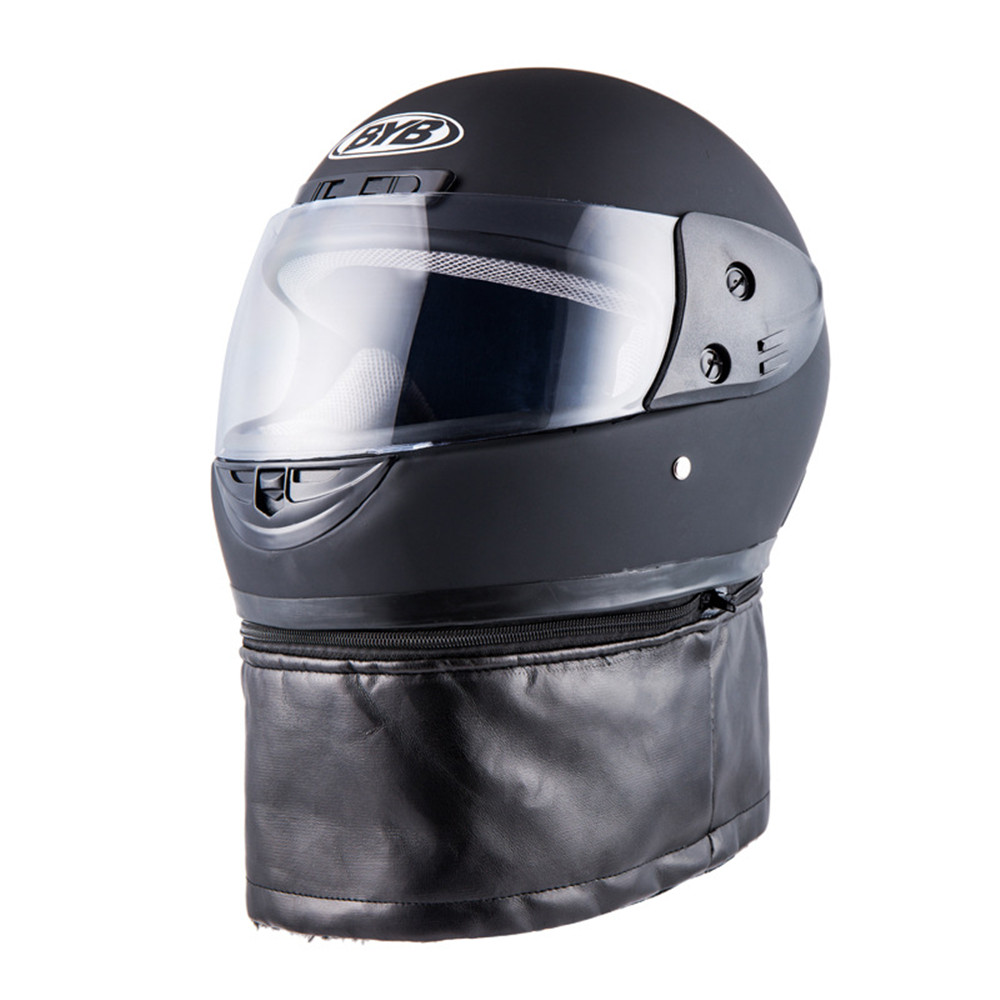 BYB Universal Motorcycle Full Face Helmet With Neck Protection A