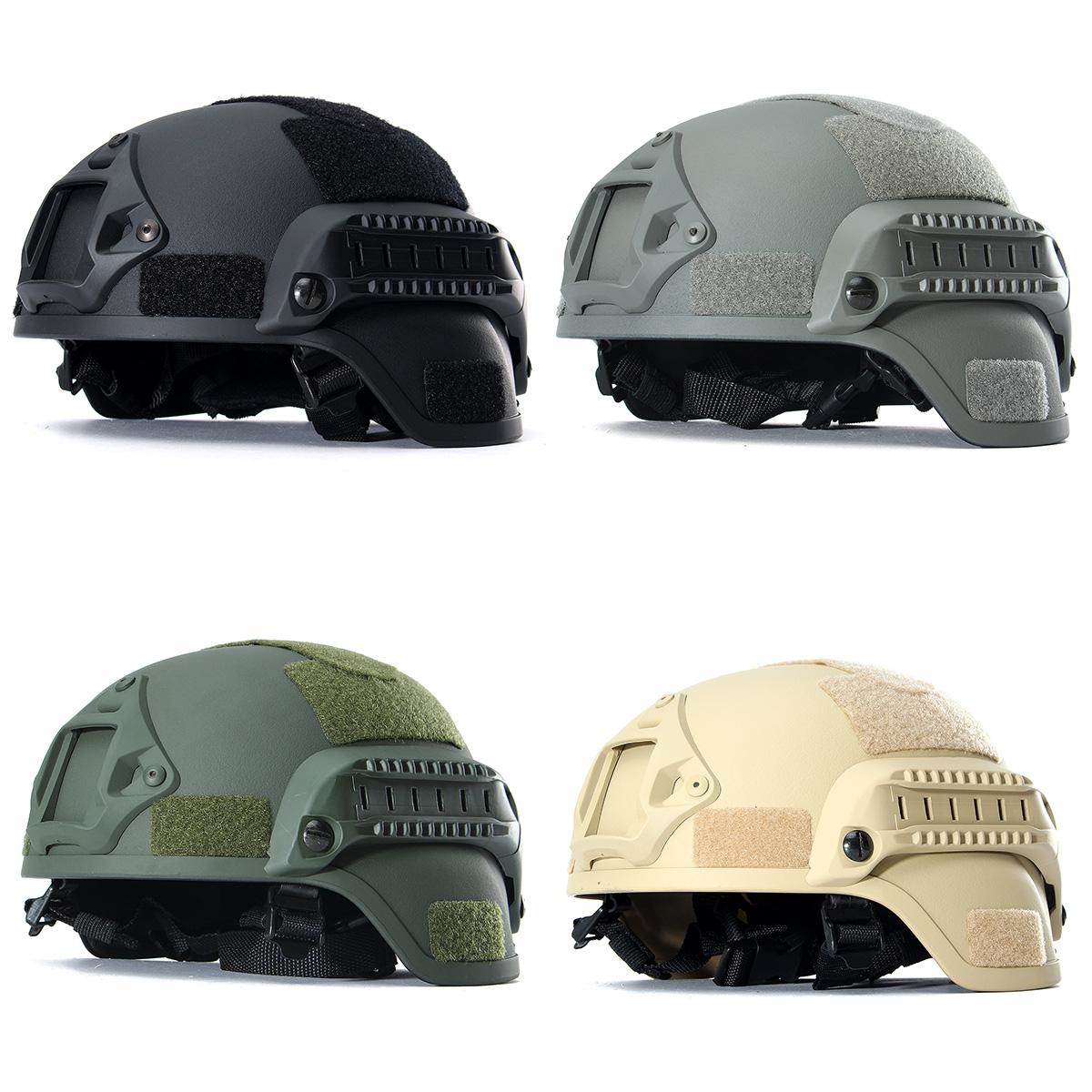 MICH 2000 Tactical Hunting Combat CS Helmet with Side Rail NVG M